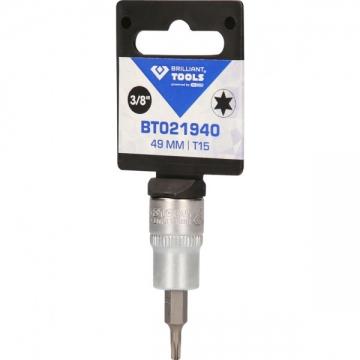 "Brilliant-ToolsBT021940 3/8"" Torx screwdriver assembly, 49mm, T15"