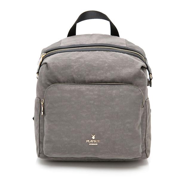 (PLAYBOY)PLAYBOY- Backpack Wrinkle Age Series - Grey