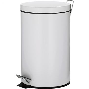 (KELA)KELA Malta Foot-operated Trash Can (White 12L)