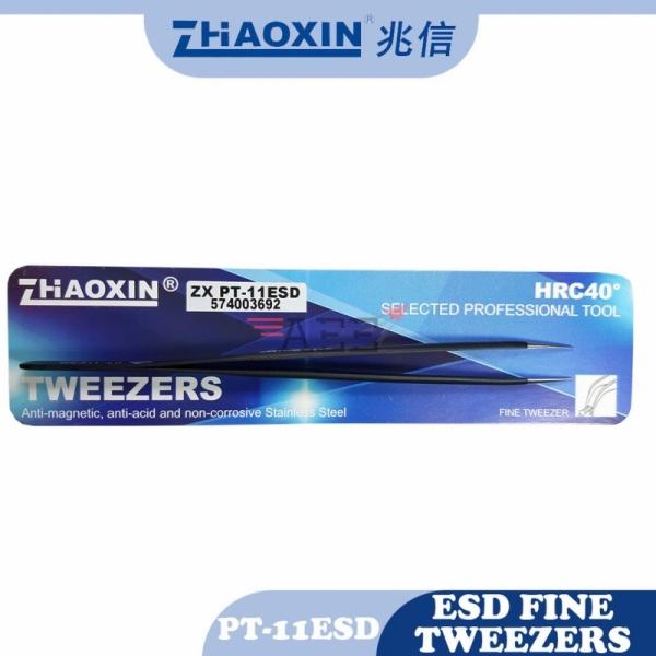 ZX PT-11 ESD Anti-Static Stainless Steel Tweezer (Penyepit)