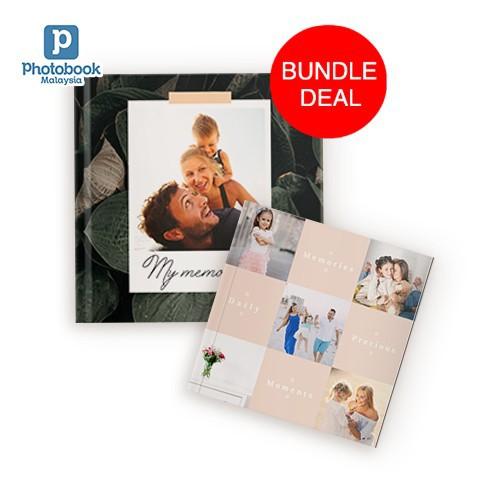 "(Bundle) Buy 1 Free 1 8"" x 8"" Imagewrap Hardcover Photobook 40 pgs + Free 6"" x 6"" Softcover Photobook 40 pgs"