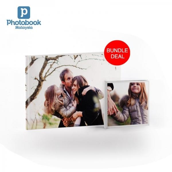 "(Bundle) Buy 1 Free 1 14"" x 11"" Imagewrap Hardcover Photobook 40 pgs + Free 6"" x 6"" Softcover Photobook 40 pgs"
