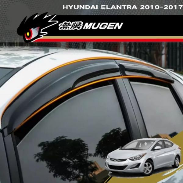 Hyundai Elantra 2010-2017 Door Visor Mugen Style