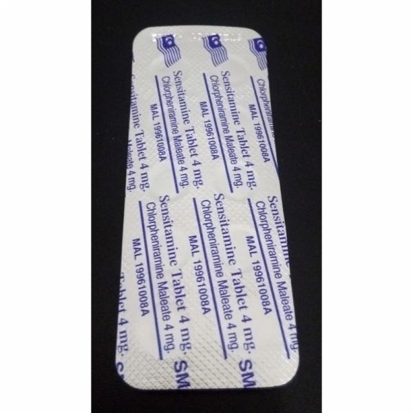 Sensitamine Tablet, Chlorpheniramine Maleate 4mg 10pcs, Ubat Anti-Alahan