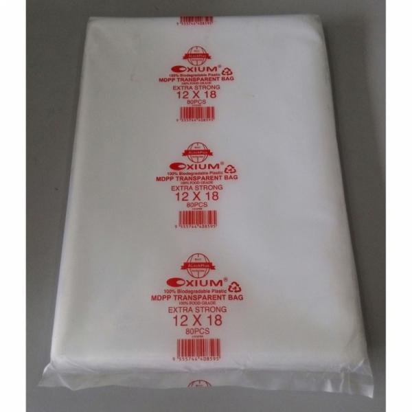 Clear MDPP 08 Plastic Bag / 12 x 18 inch Oxium Clear MDPP 08 (0.08mm) Plastic Bag - 80pcs / Thick MDPP Bag / Jenis Tebal