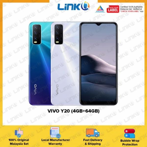 Vivo Y20 (4GB RAM + 64GB ROM) Smartphone - Original 1 Year Warranty by Vivo Malaysia (MY SET)