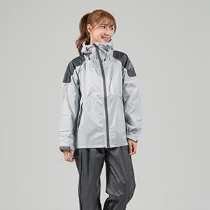 OutPerform-Sike Super Splash Two-section Raincoat-Light Gray