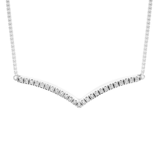 (pandora)Pandora Pandora Bright Inlaid Zirconium Wishing Bone 925 Sterling Silver Adjustable Necklace