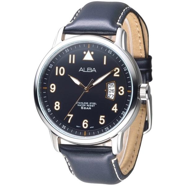 (ALBA)ALBA Simple Fashion Meniscus Date Model Men's Watch - Black (AS9B29X1)