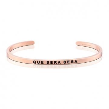 (MANTRABAND)MANTRABAND bracelet Que sera sera ㄧ cut let Rose Gold
