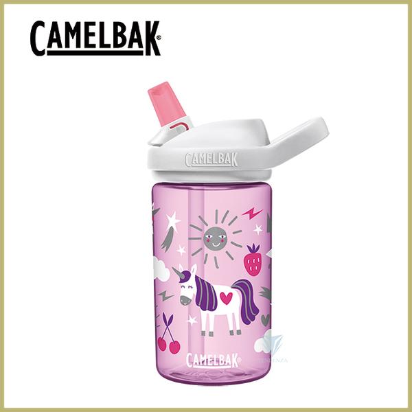 (camelbak)CamelBak 400ml eddy+ kids children's straw sports water bottle-happy unicorn