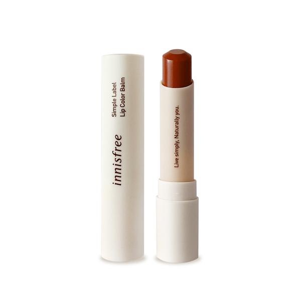 Korea innisfree simple natural hypoallergenic lip balm 3 Marnier Dahlia 3.2g