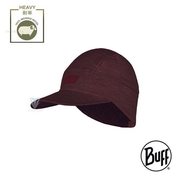 (buff)BUFF BF124120 Thermal storage bristles-Merino wool curlable cap-burgundy