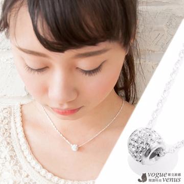 (Vogue Venus)[Vic] Vina intricate ball diamond 925 sterling silver necklace