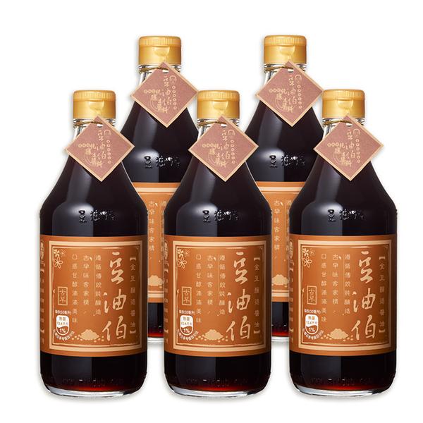 【豆油伯】金豆醬油500ml x 5瓶
