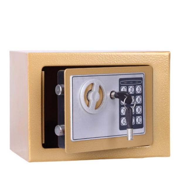 【GC420D】迷你密碼鎖保險箱-香檳金