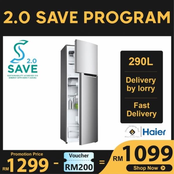 Haier 269L 2 Door Refrigerator Fridge Peti Sejuk with DC Inverter Technology HRF-IV298H