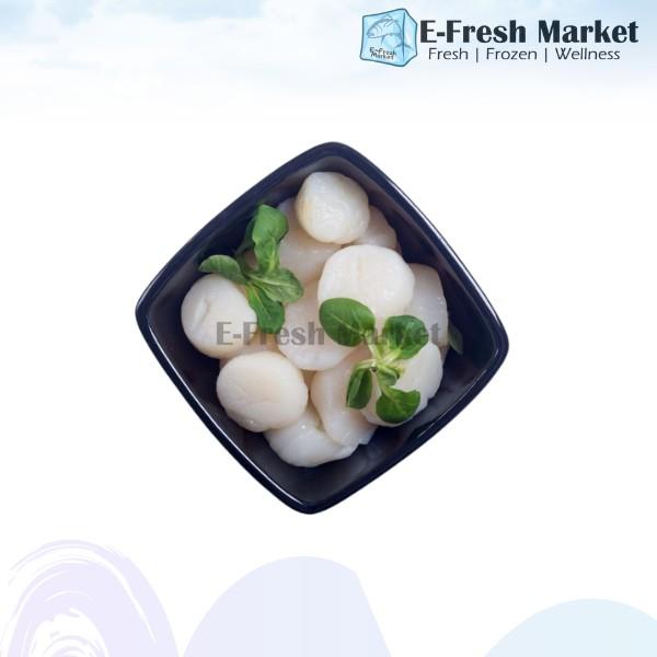 Premium Hokkaido Scallop Meat, (20-30pcs) 1kg (Penang Only)