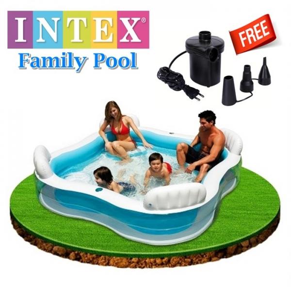 🔥M\'SIA STOCK] Free PUMP Intex Family Pool -Kolam Mandi Keluarga / INTEX POOL with pump/ swimming pool/ adult children