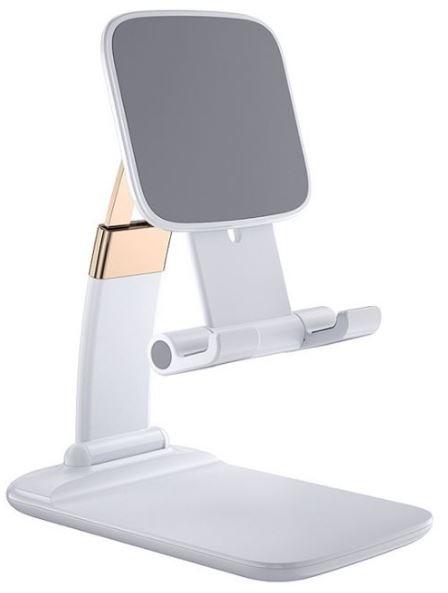 鋅合金伸縮摺疊手機支架-白色