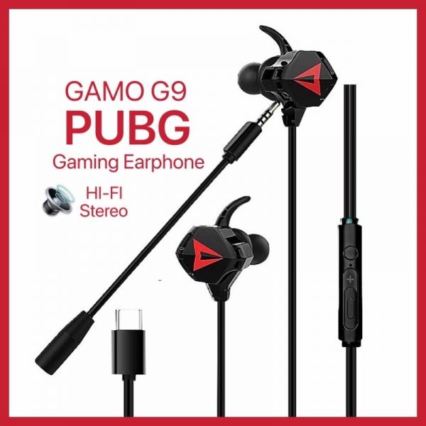 GAMO G9 Gaming Stereo Bass Noise Reduction Earphone