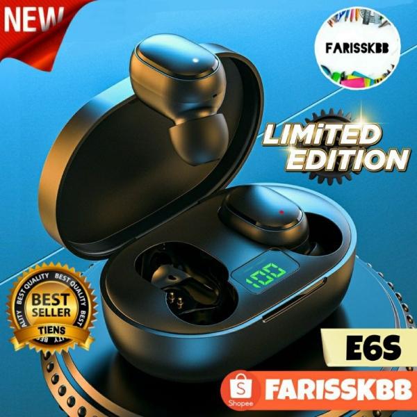 E6S AIRDOTS TWS WIRELESS EARBUDS BLUETOOTH EARPHONE 5.0 IN-EAR HEADPHONES TRUE WIRELESS EARBUDS AIRDOTS DIGITAL DISPLAY