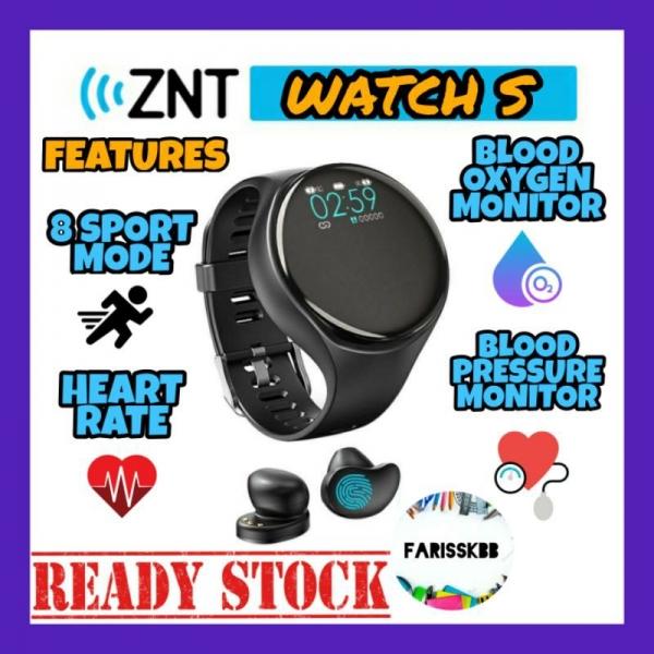 ZNT WATCH S SMART WATCH EARPHONE WATCH BLUETOOTH 5.0 WIRELESS EARPHONE FITNESS WATCH WRISTBAND IPX5 WATERPROOF EARBUDS