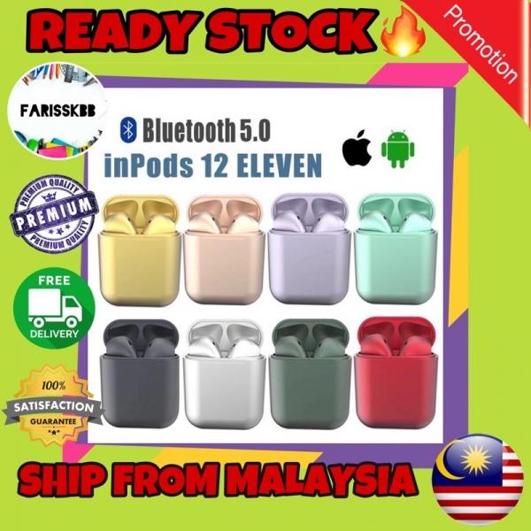 🔥READY STOCK🔥inPods 12 ELEVEN inPods i12 TWS Wireless Earbuds Airpod i12s Original Macaron Bluetooth v5.0 Earphone
