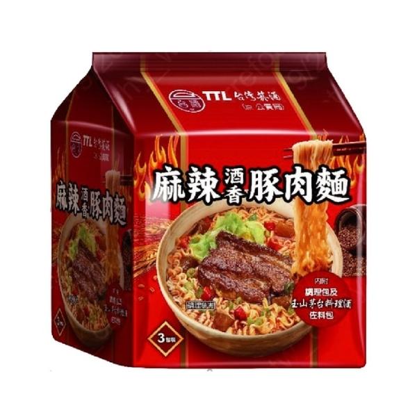 台酒TTL 麻辣酒香豚肉麵(200g x3包/袋)