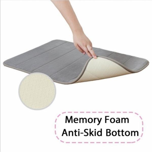 Bath Mat Kitchen Carpet 40*60cm | Water Absorption Rug Shaggy Memory Foam Bathroom Mat Kitchen Floor Mat Alas Kaki