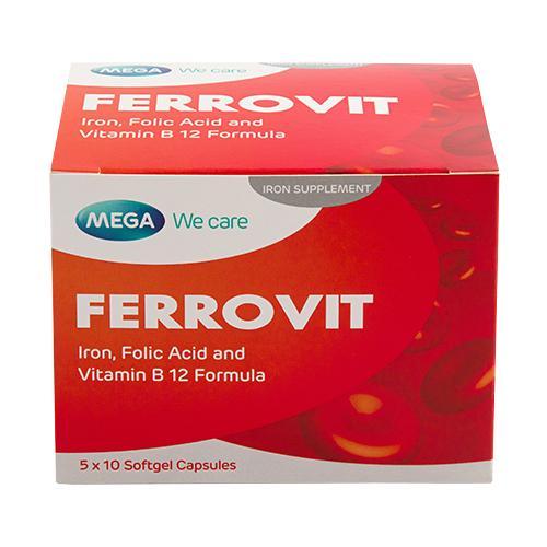 MEGA WE CARE FERROVIT 5 X10\'S EXP 06/2022