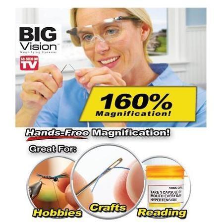 🔥READY STOCK] CERMIN MATA KANTA PEMBESAR 160% UNTUK RABUN JAUH / Big Vision Eyewear hands-free magnifying eyewear