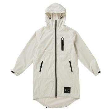 (KIU)Japan KIU 28908 White Air Raincoat / Fashion Waterproof Windbreaker with Storage Bag (Men and Women)