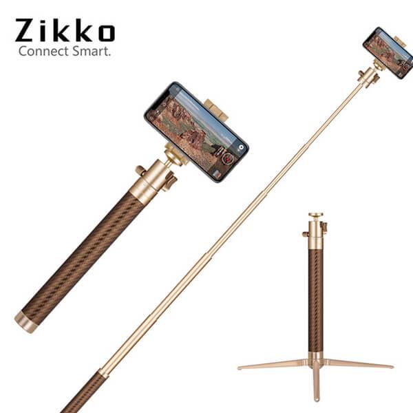 (zikko)Zikko 360 degree aluminum alloy self-timer stick (120CM) - gold
