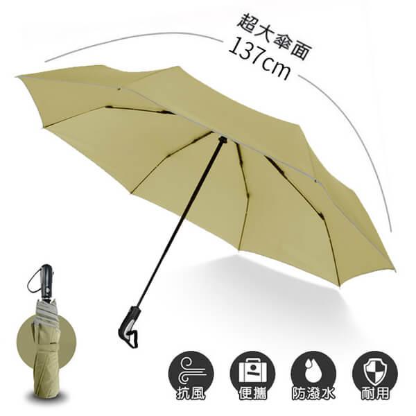 [2mm] oversized! Sports male oversized umbrella automatic opening umbrella (khaki)