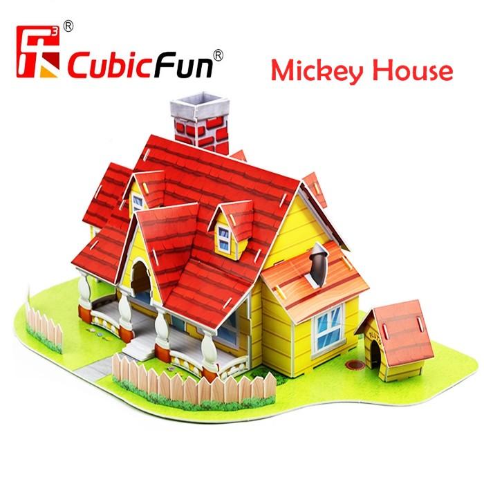 MALAYSIA: 43 PCS/SET PUZEL RUMAH MICKEY / Mickey House in Toontown Disneyland 3D Puzzle 43Pcs