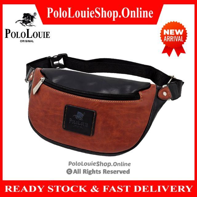 Original Polo Louie (S) Premium Leather Men Waist Pouch Bag Chest Pack Crossbody Bag Stylish