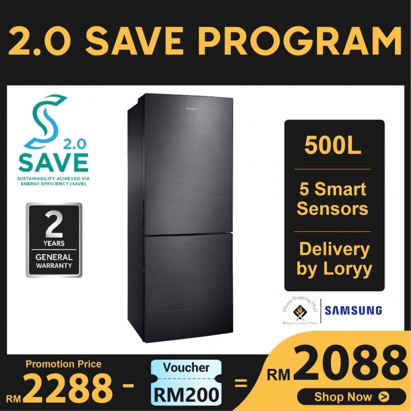 Samsung 500L 2 door Refrigerator/Peti Sejuk Bottom Mount Freezer with Digital Inverter Technology | RL4323RBABS/ME
