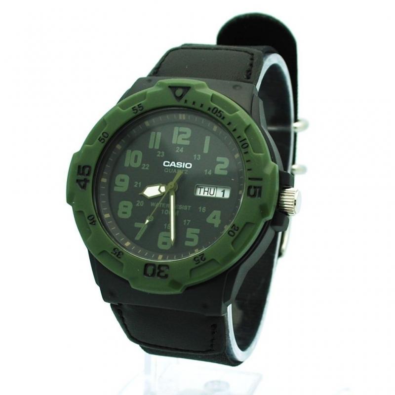 Casio Men\'s Core MRW200HB-1B Black Nylon Quartz Watch with Black Dial