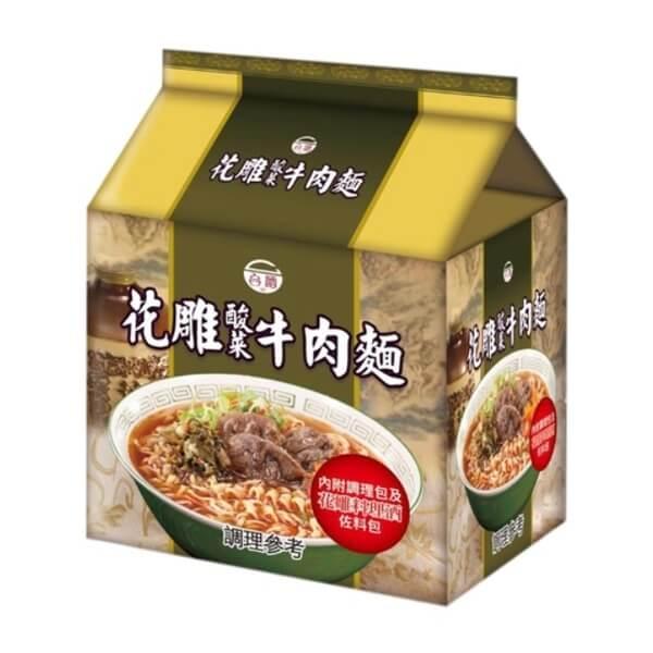 台酒TTL 花雕酸菜牛肉麵(200g x3包/袋)