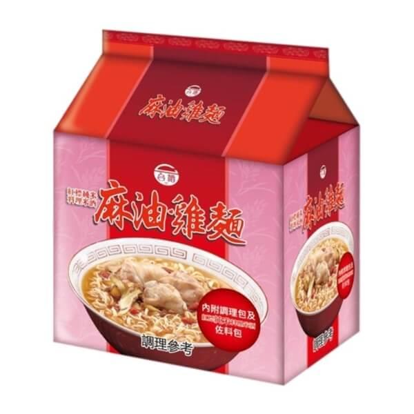台酒TTL 紅標米酒麻油雞麵(200g x3包/袋)