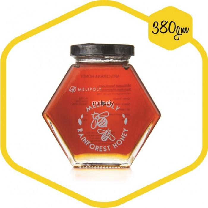 MELIPOLY 380gm Apis Cerana Pure Honey/Madu Akasia/ Made in Malaysia Rain Forest