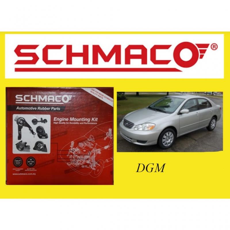 Schmaco Toyota Altis 1.6/1.8 ZZE121 / ZZE122 20020-2007Y Engine Mounting Kit Set (1 Year Warranty)