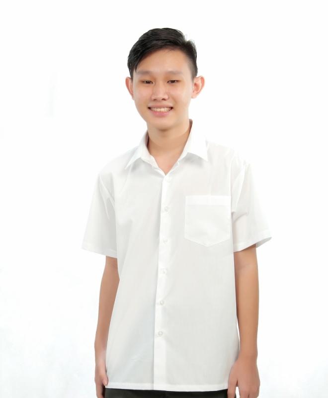 V3 Premium School Uniforms_Secondary Boys Short Sleeve White Shirt_SUPER WHITE