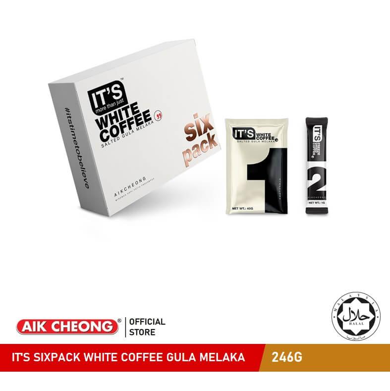 IT\'S SIXPACK WHITE COFFEE GULA MELAKA