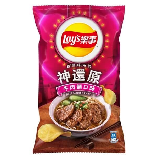樂事牛肉麵口味洋芋片97G/包
