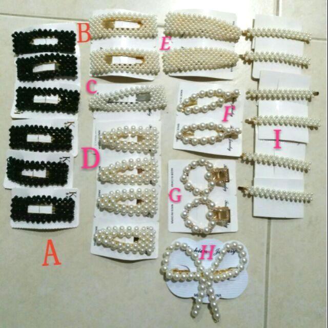 💯🆕✅ Korean Elegant Pearl Hair Clip (design A-I )