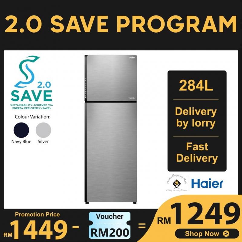 Haier 284L 2 Door Twin Inverter Refrigerator Fridge Peti Sejuk HRF-318IHM