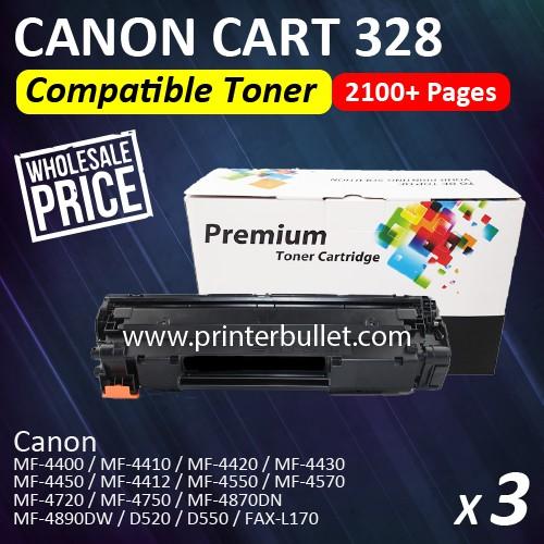 3 unit Canon 328 / Canon Cartridge 328 High Quality Compatible Toner Cartridge