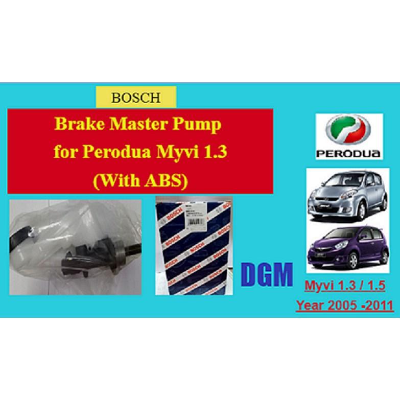 Bosch Brake Master Pump for Perodua Myvi 1.3 (with Abs)